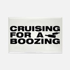 Cute Booze cruise Rectangle Magnet