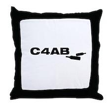 Unique C4ab Throw Pillow