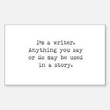 Writer's Miranda Rectangle Decal