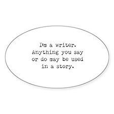Writer's Miranda Oval Decal