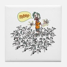Pigeons scare meep Tile Coaster