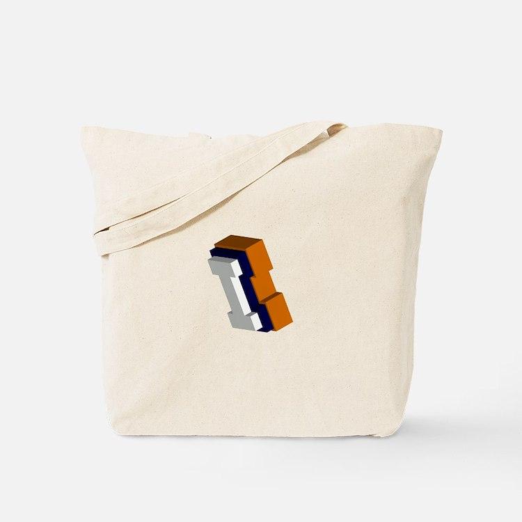 Orange, Blue, and White Box I Tote Bag