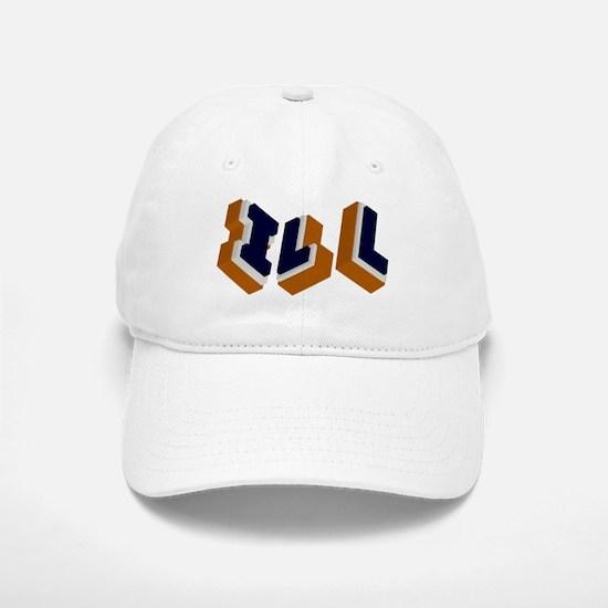 Orange, Blue, and White Box I Baseball Baseball Cap