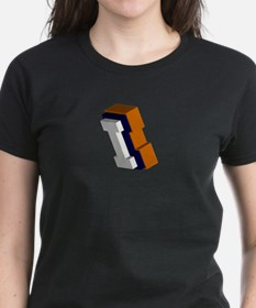 Orange, Blue, and White Box I Tee