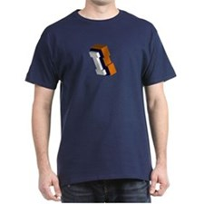 Orange, Blue, and White Box I T-Shirt