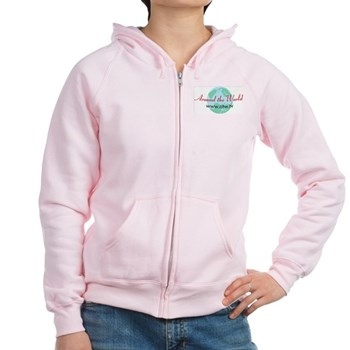 Around The World Women's Zip Hoodie