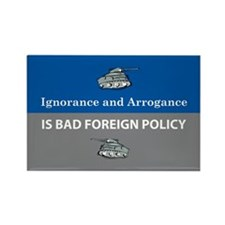 Ignorance and Arrogance Rectangle Magnet (10 pack)