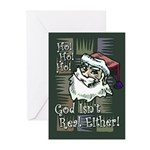 God Isn't Real Either! Greeting Cards (Pk of 10)