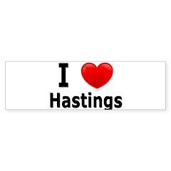 I Love Hastings Bumper Bumper Sticker