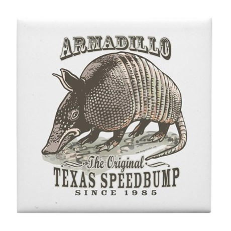 Armadillo Texas Speedbump Tile Coaster