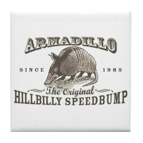 Armadillo Hillbilly Speedbump Tile Coaster