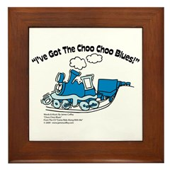 Choo Choo Blues Framed Tile