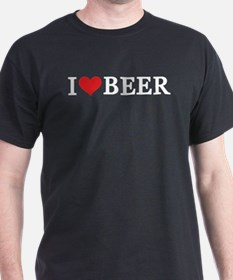 I (Heart) Beer Black T-Shirt