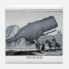 Meep Whale Meep Tile Coaster