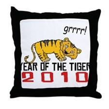 Funny Year of The Tiger 2010 Throw Pillow
