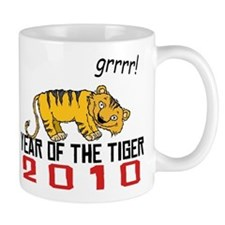 Funny Year of The Tiger 2010 Small Mugs