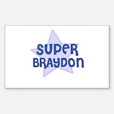 Super Braydon Rectangle Decal