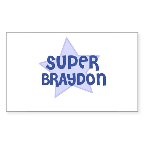 Super Braydon Rectangle Sticker