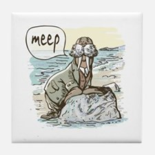 Meep Walrus Meep Tile Coaster