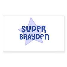 Super Brayden Rectangle Decal