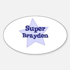 Super Brayden Oval Decal