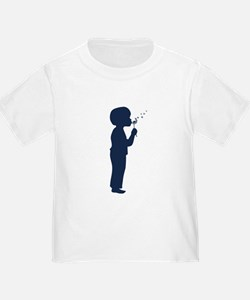Little Boy Blowing Dandelion Toddler Tee