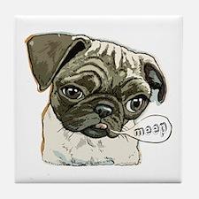 Meep Pug Meep Tile Coaster