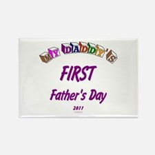 First Father's Day Rectangle Magnet