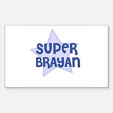 Super Brayan Rectangle Decal