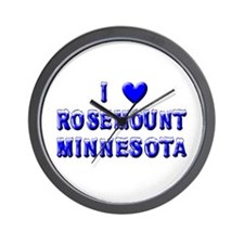 I Love Rosemount Winter Wall Clock