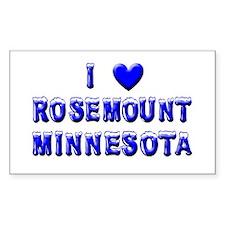 I Love Rosemount Winter Rectangle Decal