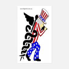 Uncle Sams Curse Rectangle Decal