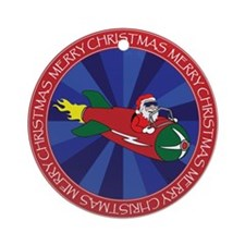 SANTA'S ROCKET #2 Ornament (Round)