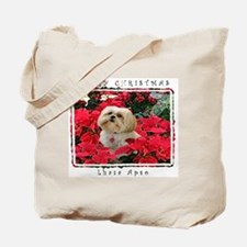 Lhasa Apso Blonde Christmas Tote Bag