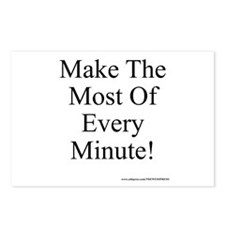 Make The Most of Every Minute Postcards (Package o