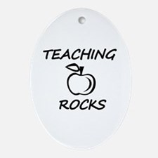 Funny World%27s hottest middle school teacher Oval Ornament