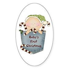 Christmas Baby Boy Oval Decal