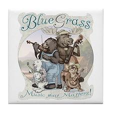 Bluegrass Critter Music Tile Coaster