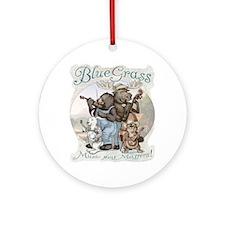 Bluegrass Critter Music Ornament (Round)