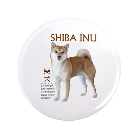 "SHIBA INU 3.5"" Button (100 pack)"