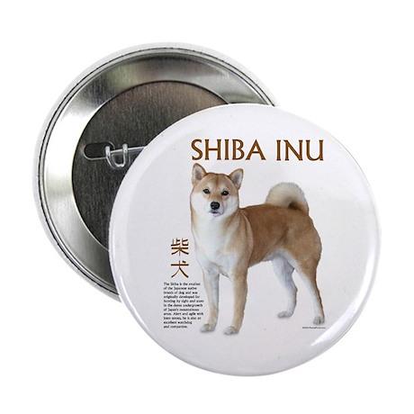 "SHIBA INU 2.25"" Button (10 pack)"