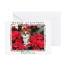 Papillion Christmas Greeting Cards (Pk of 10)