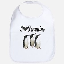 I LOVE PENGUINS Bib