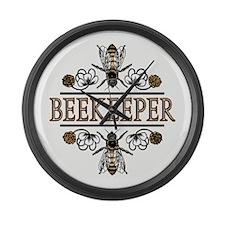 The Beekeeper Large Wall Clock