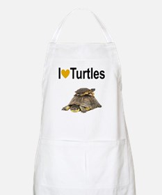 I LOVE TURTLES Apron