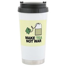 Make Tea Not War Ceramic Travel Mug