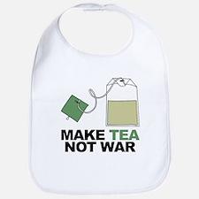 Make Tea Not War Bib