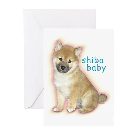 SHIBA BABY Greeting Cards (Pk of 10)