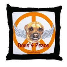 Dogs 4 Peace Throw Pillow