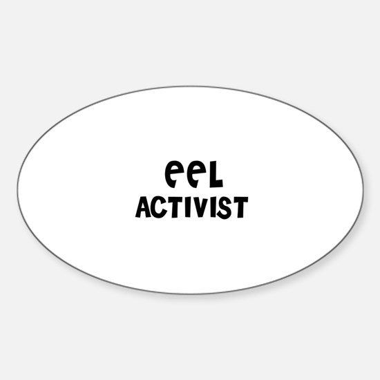 EEL ACTIVIST Oval Decal